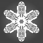 DIY Star Wars Snowflakes created by a husband and wife... PDF stencils here.