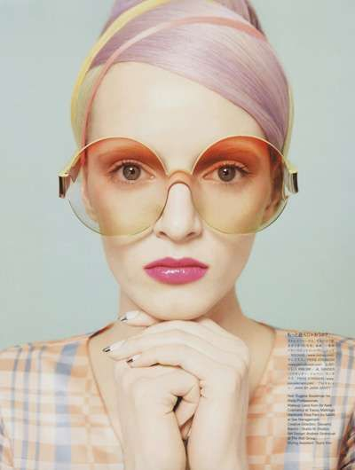 Head Wrap Hairstyles - The Resort T Beauty Vogue Nippon Photoshoot is Retro-Chic (GALLERY)