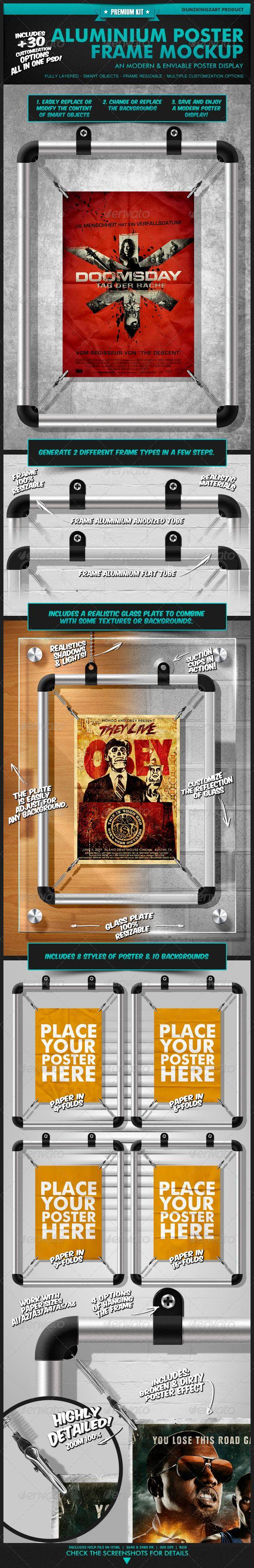 Aluminium Poster Frame Mockup - Premium Kit