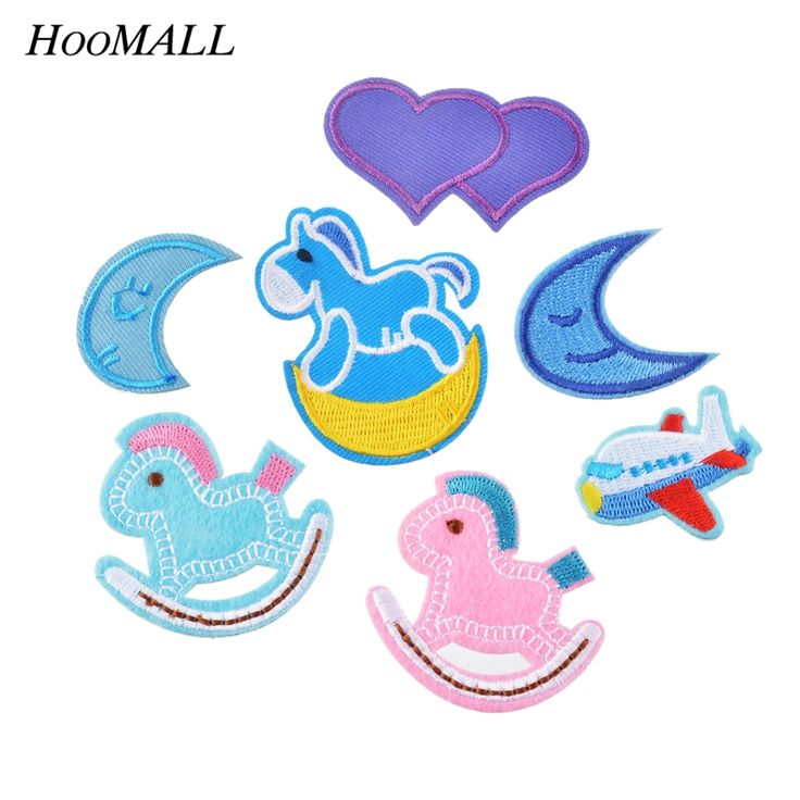 Find More Patches Information about Hoomall 7PCs Mixed Cartoon Patches For Kids Clothes Vest Iron On Badges Appliques Heart Moon Horse Sewing Embroidered Patches,High Quality dress compare,China dress up clothes women Suppliers, Cheap patch care from Handicraft Store on Aliexpress.com