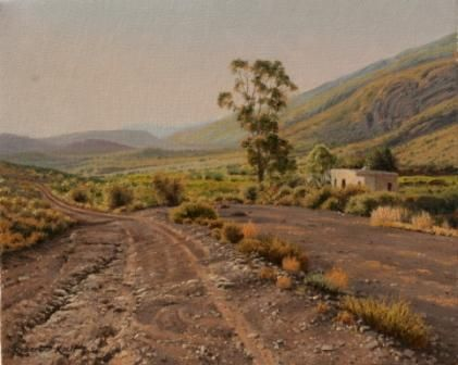 Road to Kloofhuis Oil on canvas by Robert Koch Art
