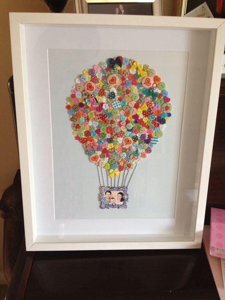 our family button art hot air balloon lifes a wonderful adventure with little george