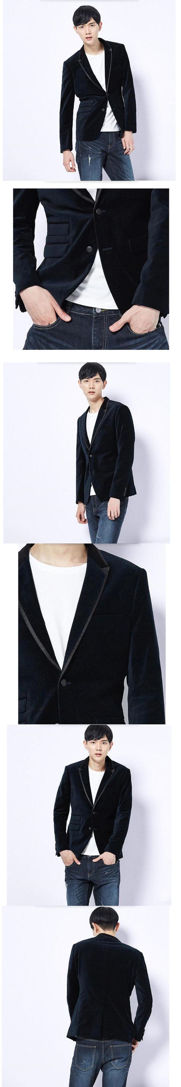 High quality men's suit jacket velvet classic style fashion groom suit jacket custom pure color single-breasted leisure men's ja