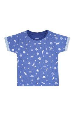 T-shirt azul estampado sublimação