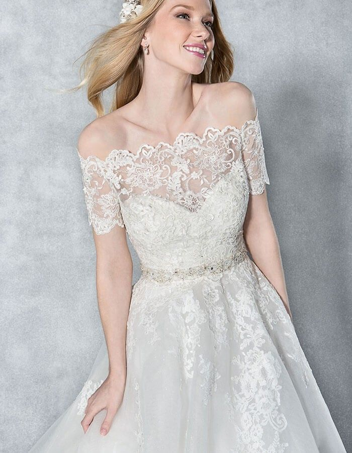 """Carrie"" Wedding Dress sleeveless Aline"