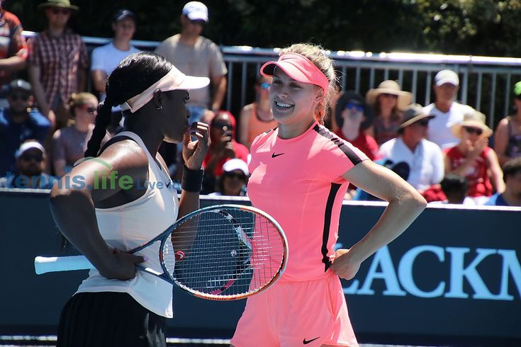 Out of doubles, Bouchard has Halep Thursday ..Genie Bouchard and Sloane Stephens went down 4-6, 4-6 to the No. 2 seeds, Russians Ekaterina Makarova and Elena Vesnina.