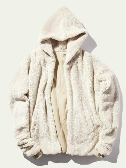 Oncegala Sherpa Hoodie Streetwear Kanye West Clothing Hip Hop Skateboard Urban Clothes – Sweater