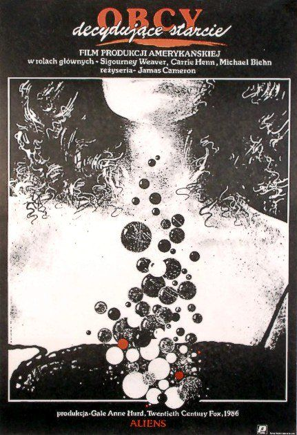 Aliens, Polish Movie Poster, Design by Dybowski