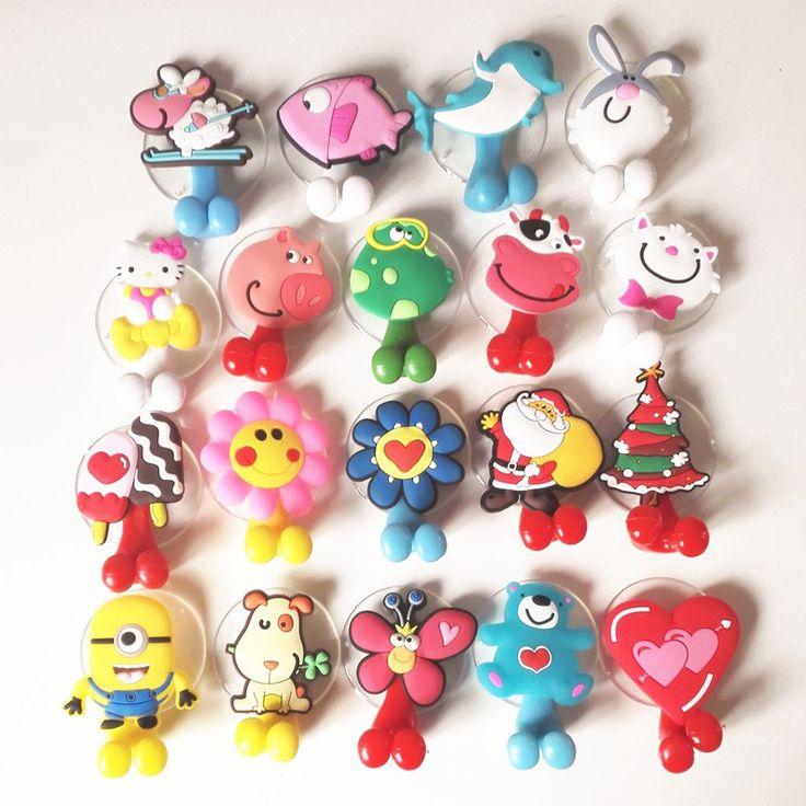 רב תכליתי אביזרי אמבטיה מחזיק מברשת שיניים כוס יניקת בעלי החיים קריקטורה חמודה 24 צבעים משלוח חינם