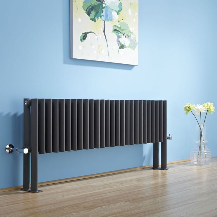 This floor-mounted radiator is a statement piece that's just perfect for the bedroom.
