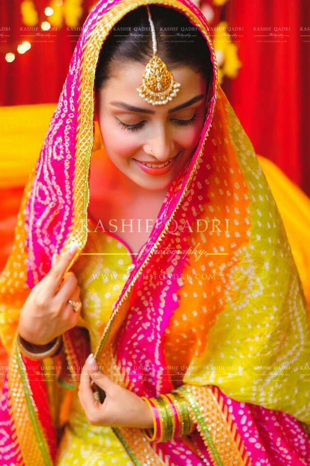 Colorful Bride, via Kashif Qadri Photography https://www.facebook.com/kashifqadriphotography #Pakistan