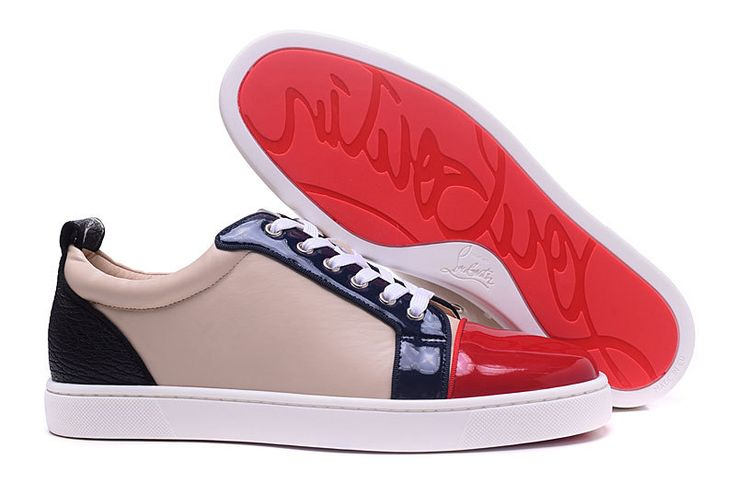 Christian Louboutin Louis Black Nude Red Low Sneakers