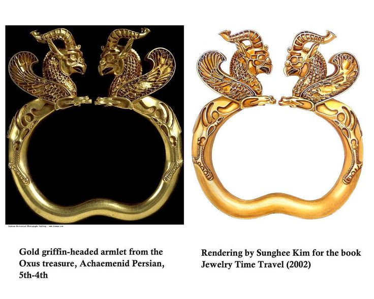 "Sunghee Kim on Instagram: ""Griefin headed Oxus Treasure. Rendering by Sunghee Kim for the book "" Jewelry Time Travel"" 2002. #jewelrydesigner #sungheekim #rendering"""
