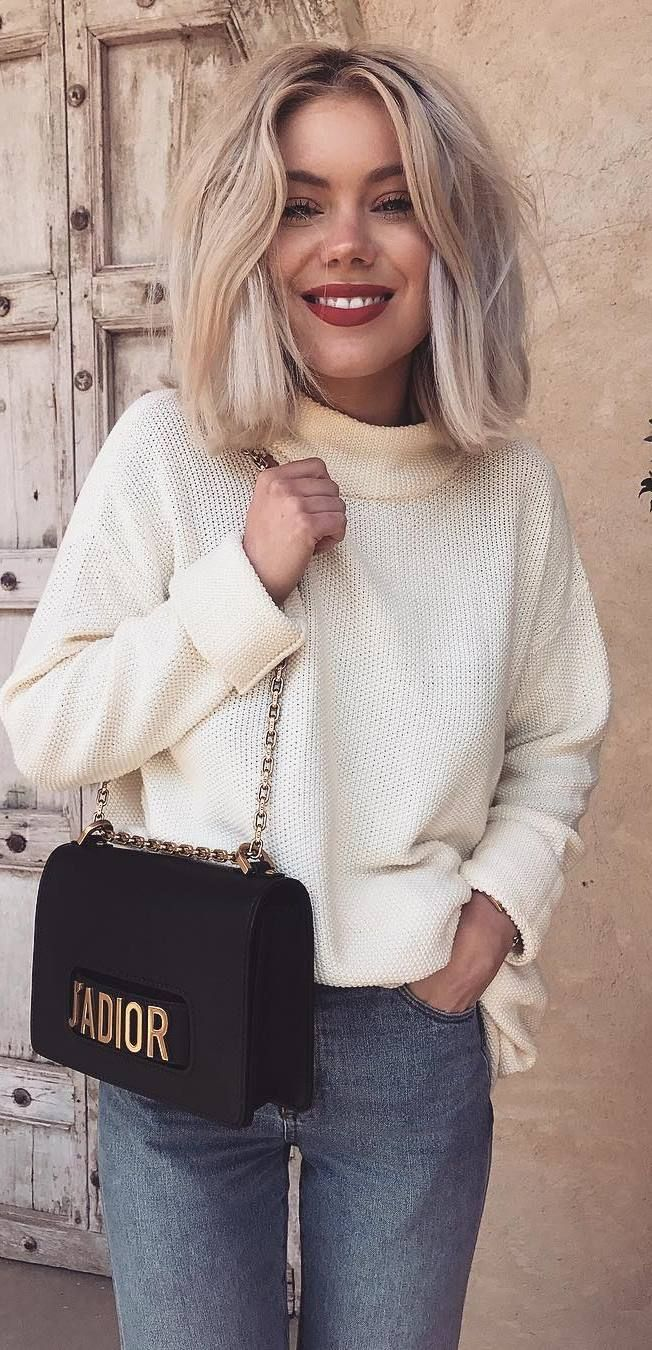 116 Best How To Wear A Cozy Sweater Knits Images On Pinterest Tendencies Black Logo Pullover Hitam Xl 30 Perfect Outfit Ideas Copy Asap