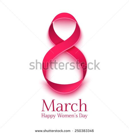 March 8 Greeting Card. Background Template For  International Womans Day. Vector Illustration - 250383346 : Shutterstock