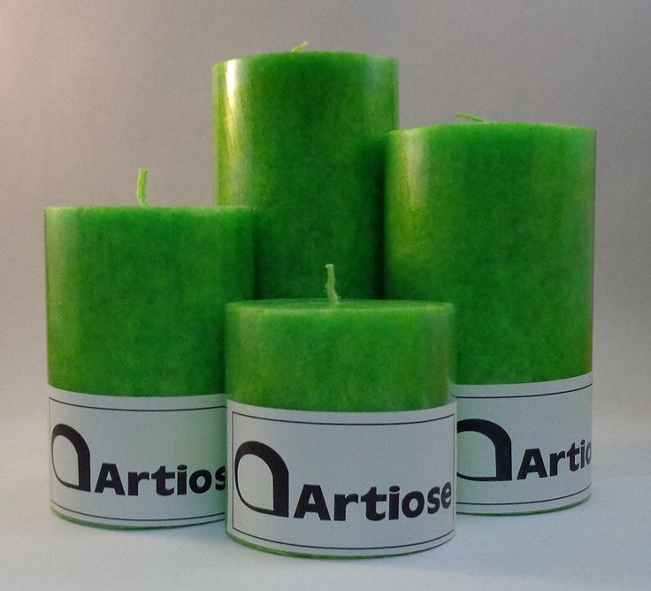 #Tea #Tree #scented #Pillar #Candle Set - Set of 4