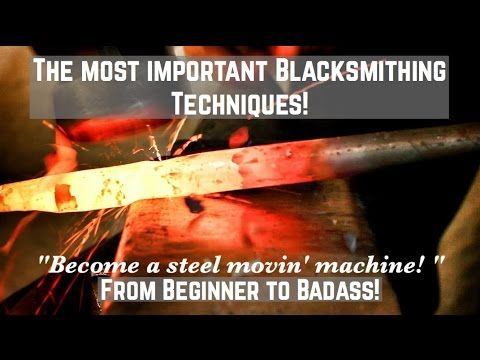 The Most Important Blacksmithing Techniques? How to Forge Tapers! The ESSENTIAL guide - YouTube