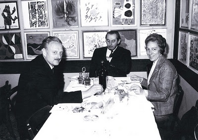 Edoardo Gellner (left), Carlo Scarpa, Gellner's wife