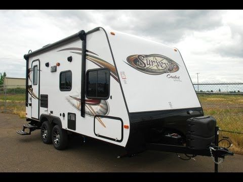 welcome to the video tour of the surveyor cadet you can find more information on our wide selection of lightweight travel trailers by visiting ou