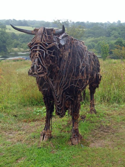 cow sculptures for garden - Google Search