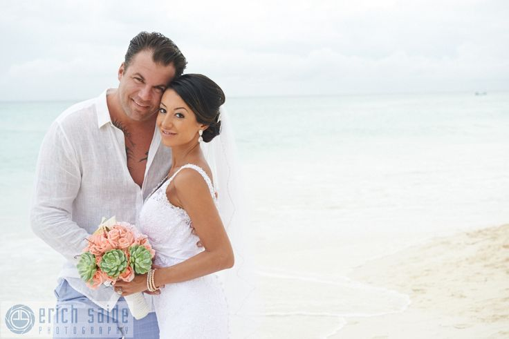 Bride Cass and her groom, celebrating in their nuptials in the Riviera Maya! Photography by Erich Sade