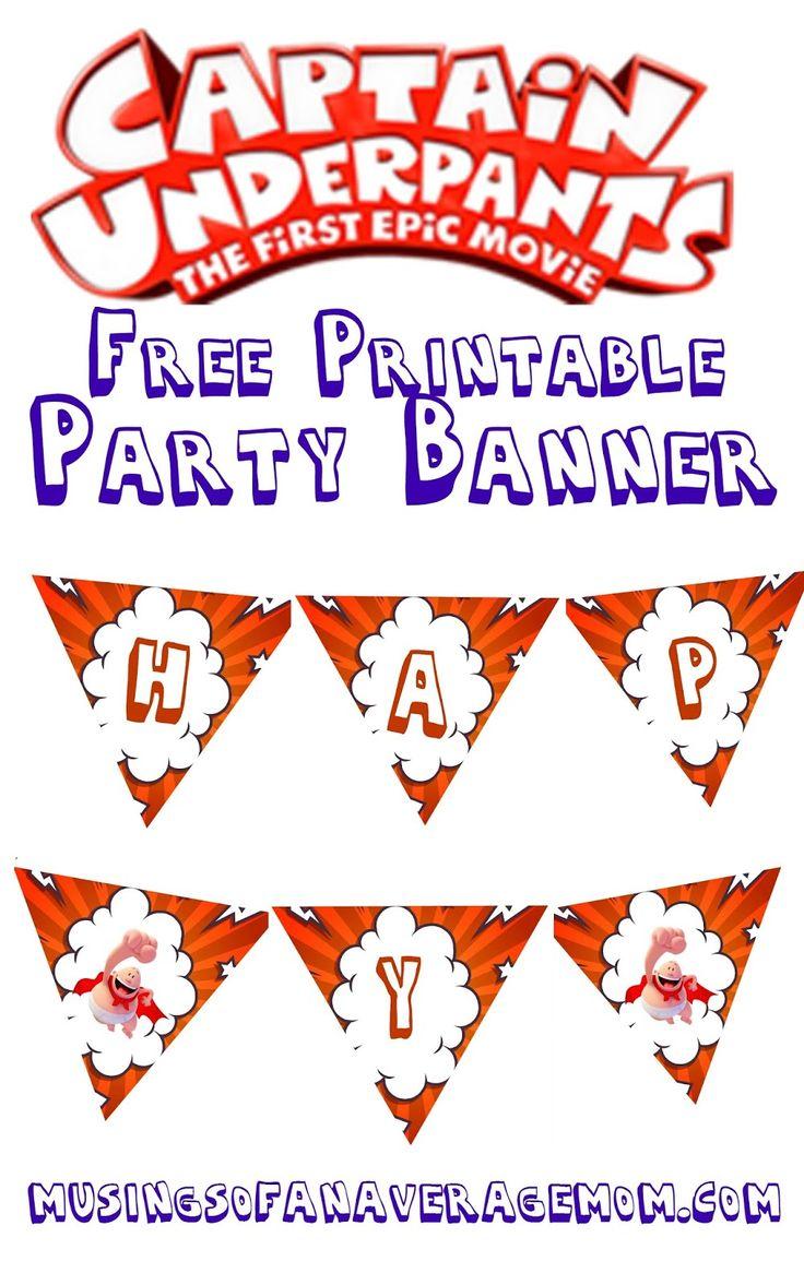Captain Underpants party banner