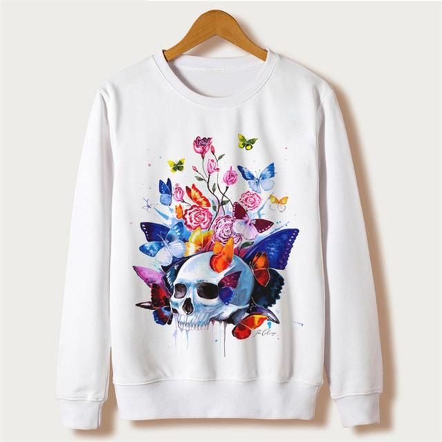 Fashion Women Animal Print Hoodies