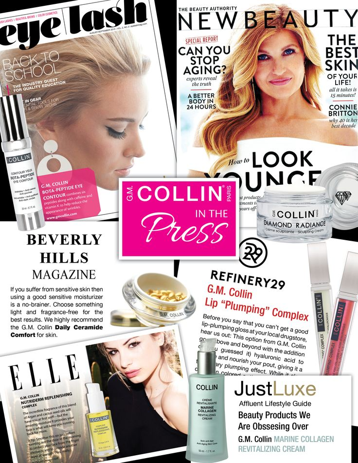 G.M. Collin in the press - Summer 2015 #beauty #cosmetics #skincare #spa #wellness #wellbeing #cocooning #press #pressreview #magazine #gmcollin #gmcollinparis #gmcollinskincare