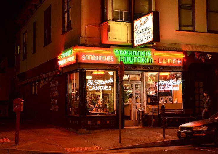 Randall Ann Homan and Al Barna photograph San Francisco's neon signs in their book, San Francisco Neon.