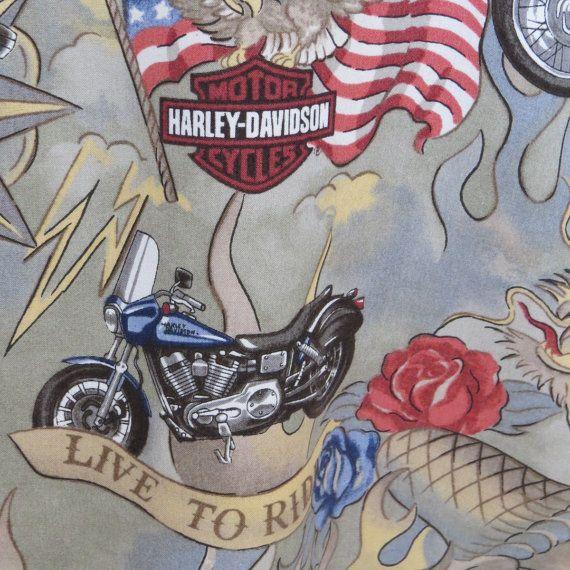 Vintage Menu0027s HARLEY DAVIDSON Motorcycles By Shabbyshopgirls, $38.00