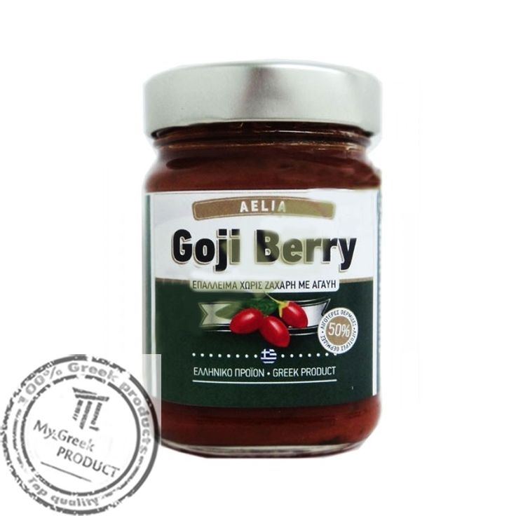 Jam Goji Berry free sugar AELIA  Jam with 100% Goji berries Greek production and agave syrup.