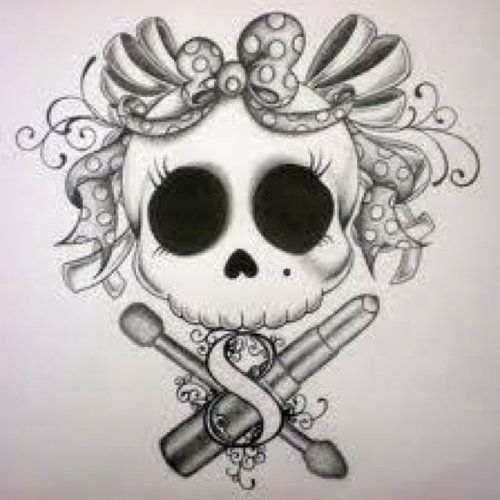 Skull+with+Bow+Tattoo+Drawing | Skull Art | Inked Magazine