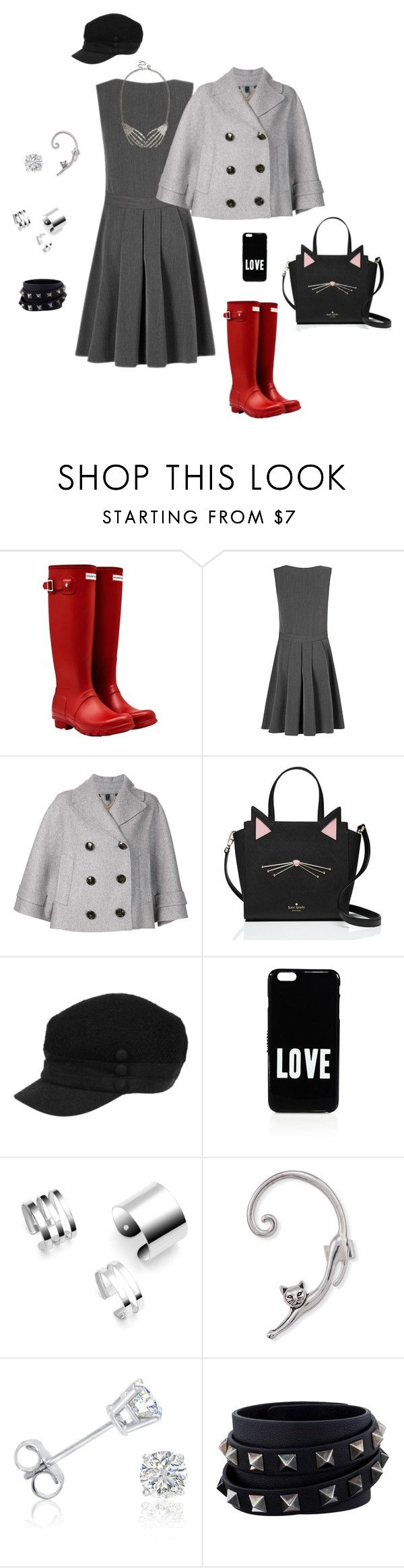 Noite de chuva! by simone-silva-s2 on Polyvore featuring moda, George, Burberry, Hunter, Kate Spade, Valentino, Amanda Rose Collection and Givenchy