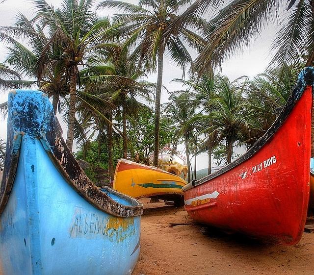 Goan fishing boats