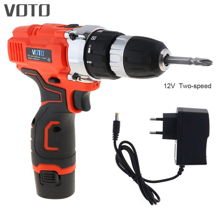 VOTO AC 100 - 240V Cordless 12V Electric Screwdriver with Rotation Adjustment Switch and Two-speed Adjustment Button. Yesterday's price: US $33.65 (27.85 EUR). Today's price: US $33.65 (27.82 EUR). Discount: 21%.