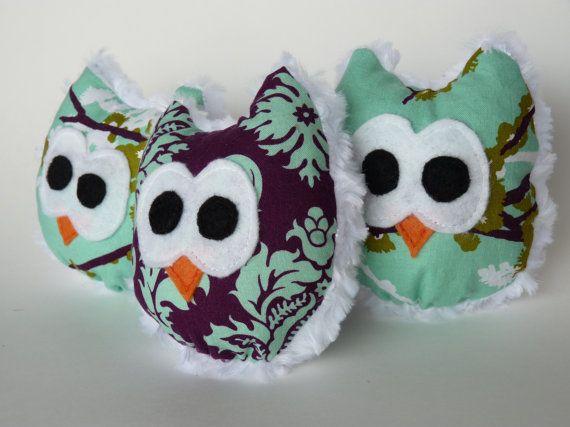 Joel Dewberry Mini Minky Owl Toys/Decor on Etsy, $26.00 CAD