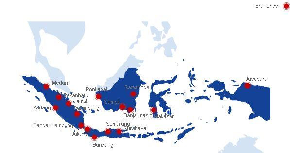 PT Traktor Nusantara :: Support - Branches