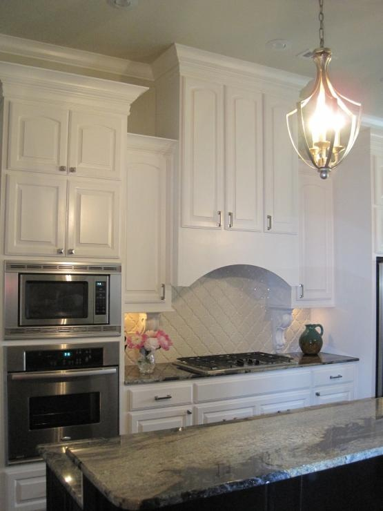 Beveled Arabesque Tile Backsplash Kitchens Pinterest