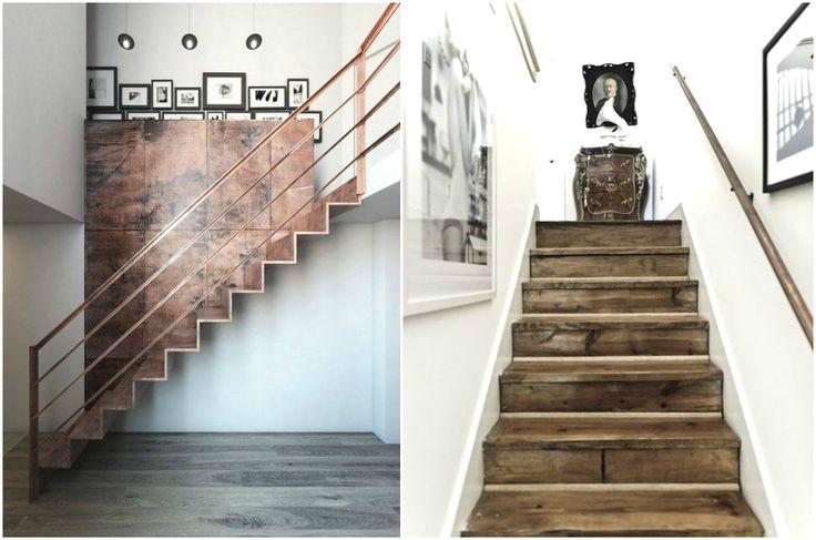 Лестничные перила из медных труб #дизайн #интерьер #декор #медь #медный