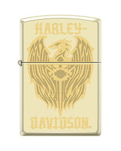 This Harley-Davidson design combines laser and rotary engraving to create an interesting contrast and stunning product. This lighter features the Harley-Davidson bar & Shield logo on top of an eagle color imaged on a cream matte lighter. Comes packaged in an environmentally friendly gift box. For optimal performance, fill with Zippo premium lighter fluid. Product […]