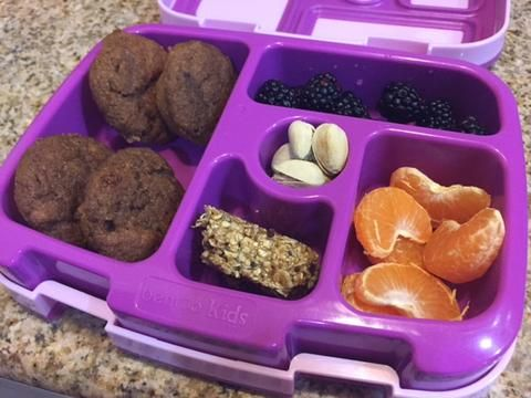 These delicious and healthy mini muffins will make anyone's day. Pack them in to your kiddos lunch and be a lunchtime hero!