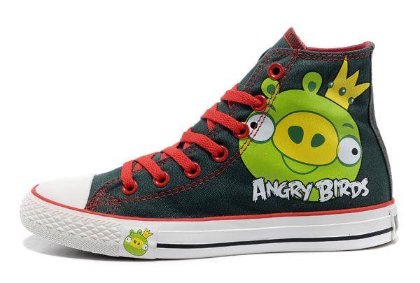 Atpdue.it / Converse Angry Birds vert Roi Cochon Imprimé All Star Top Chaussures converse con borchie converse chuck taylor online