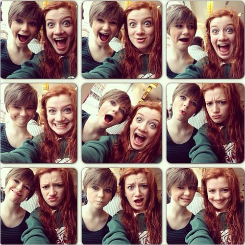 Ciara Baxendale and Sophie Wright a.k.a Tix and Izzy from MMFD <3 .