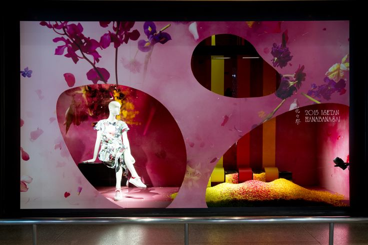 2015.2.18 wed - 本館ウインドー「花々祭」 http://isetanparknet.com/ #windowdisplay