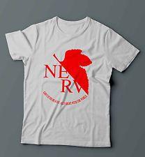 Neon Genesis Evangelion Nerv Logo Foglia Maglietta Maglia White Men's Tshirt