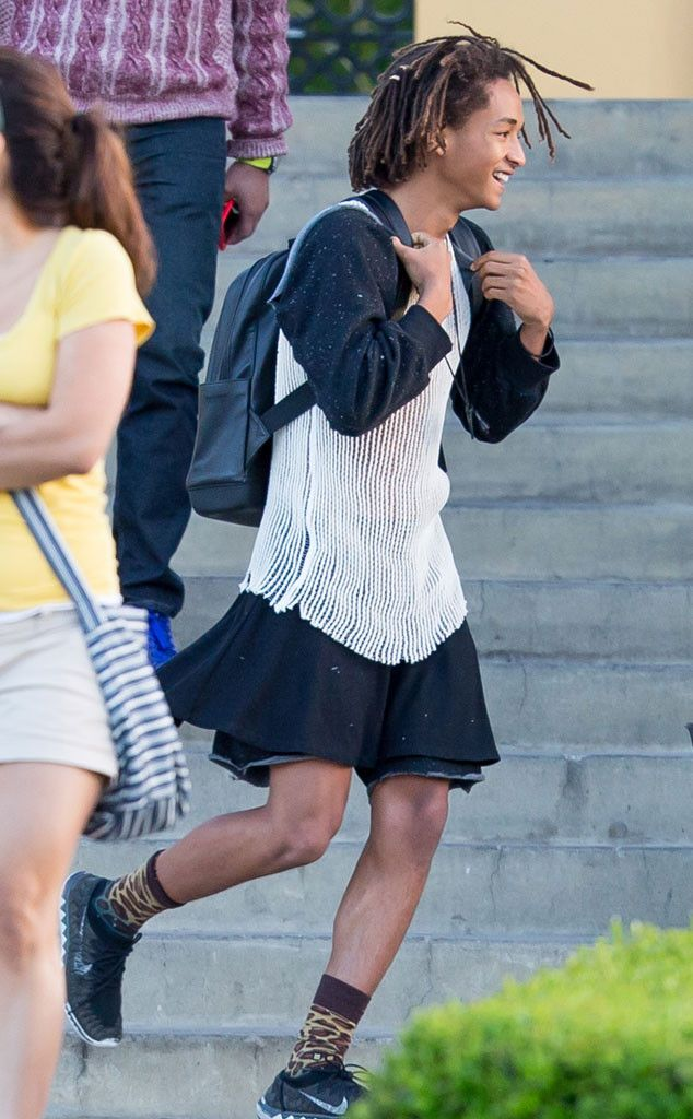 """Jaden Smith is changing the game for a lot of guys and I feel like his style choices might launch a whole """"guys wearing dresses"""" revolution!"""