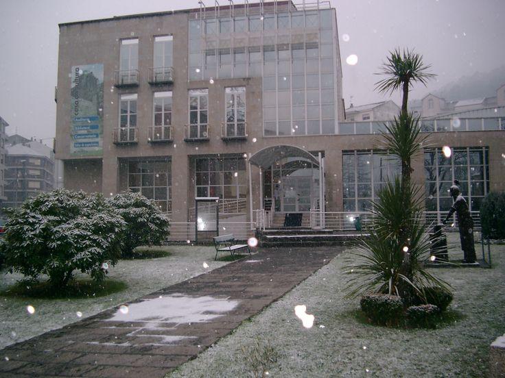 Casa da Cultura un día que nevou