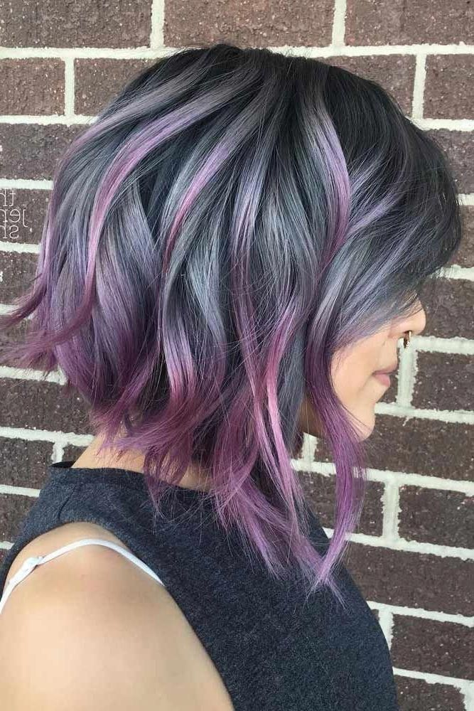 16 Hair Color Ideas For Short Hair Hair Color Ideas For Brunettes Short Brunette Hair Color Purple Hair
