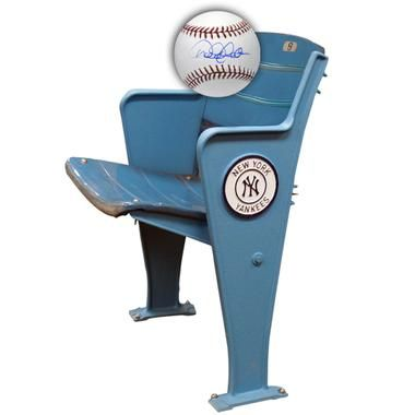 Commemorative Seat from the Old Yankee Stadium + FREE Derek Jeter Autographed Baseball  -  man cave memorabilia, man cave decor, man cave ideas, autographed memorabilia  -  www.ultimatemancaveshop.com