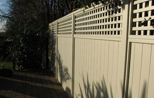 Avenue Panels with HV48 Trellis Painted Orford Cream